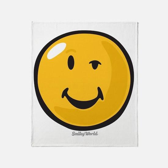 sarcasm smiley Throw Blanket