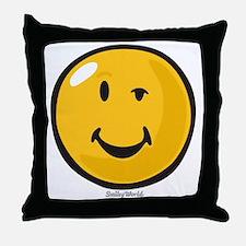sarcasm smiley Throw Pillow