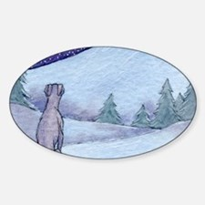 Greyhound whippet silent night Decal