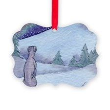 Greyhound whippet silent night Ornament