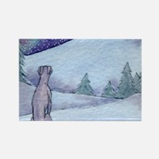 Greyhound whippet silent night Rectangle Magnet