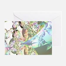 Wings of Angels Amethyst Crystals Greeting Card