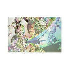 Wings of Angels Amethyst Crystals Rectangle Magnet