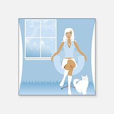 """Winter White Square Sticker 3"""" x 3"""""""