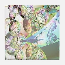 Wings of Angels Amethyst Crystals Tile Coaster