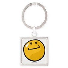 pride smiley Square Keychain