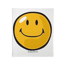 smug smiley Throw Blanket