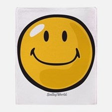smug smiley Throw Blanket