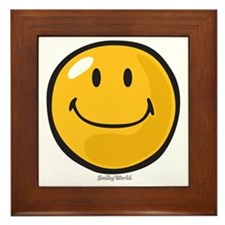 smug smiley Framed Tile