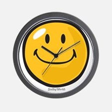 smug smiley Wall Clock