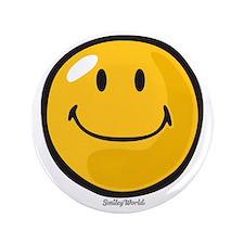"""smug smiley 3.5"""" Button"""