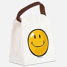 smug smiley Canvas Lunch Bag