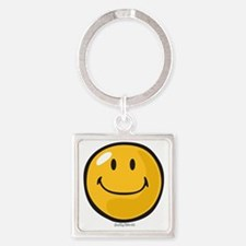 smug smiley Square Keychain
