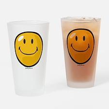 smug smiley Drinking Glass
