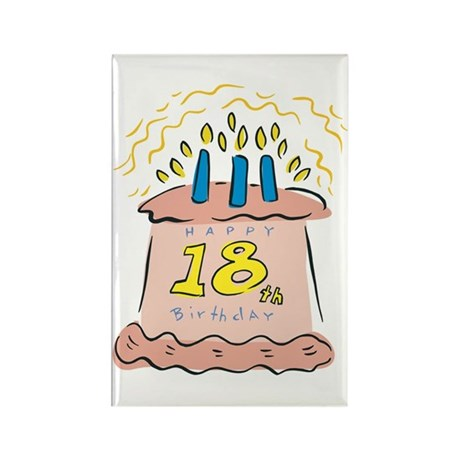 Happy 18th Birthday Rectangle Magnet (100 pack)