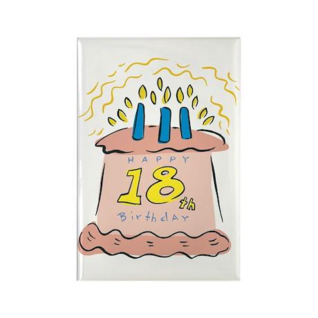 Happy 18th Birthday Rectangle Magnet