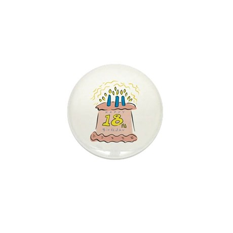 Happy 18th Birthday Mini Button (10 pack)