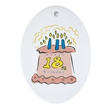 Happy 18th Birthday Oval Ornament