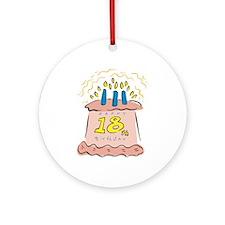 Happy 18th Birthday Ornament (Round)