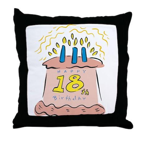Happy 18th Birthday Throw Pillow