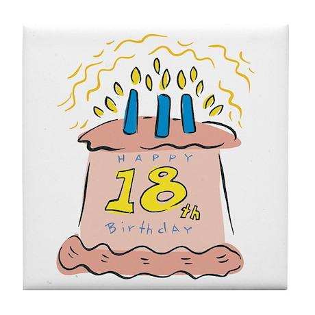 Happy 18th Birthday Tile Coaster