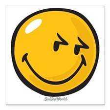 """sneakiness smiley Square Car Magnet 3"""" x 3"""""""