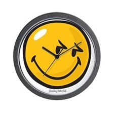 sneakiness smiley Wall Clock