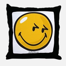 sneakiness smiley Throw Pillow
