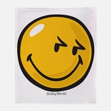 sneakiness smiley Throw Blanket