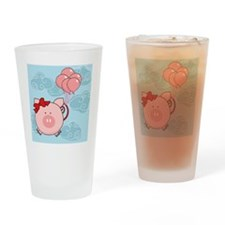 flying pig Drinking Glass