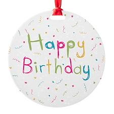 Happy Birthday card Ornament