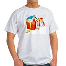 illustration of house in gift pack o T-Shirt
