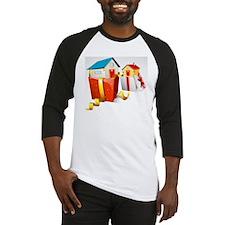 illustration of house in gift pack Baseball Jersey