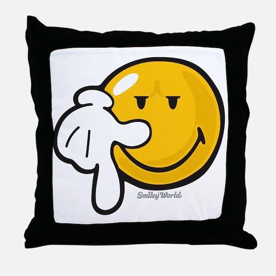resolve smiley Throw Pillow