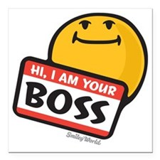 """superiority smiley Square Car Magnet 3"""" x 3"""""""