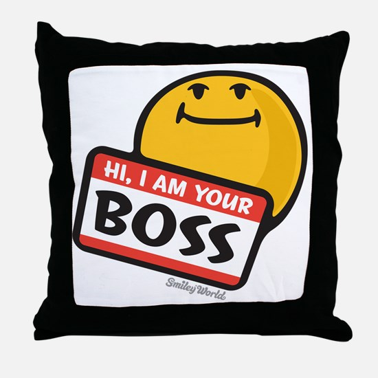 superiority smiley Throw Pillow