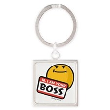 superiority smiley Square Keychain