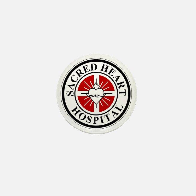 sacred heart logo Mini Button
