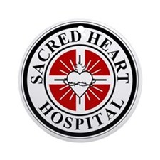 sacred heart logo Round Ornament