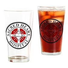 sacred heart logo Drinking Glass