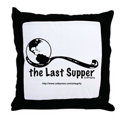 Last Supper Spoon Throw Pillow