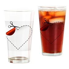 vector illustration of Scissors. Ve Drinking Glass
