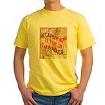 Flat New Mexico Yellow T-Shirt