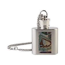 Irish Erin Go Brah Vintage Art Flask Necklace
