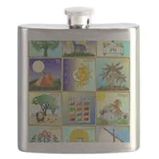 12 Tribes of Israel Flask
