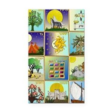 12 Tribes of Israel Rectangle Car Magnet