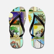 12 Tribes of Israel Flip Flops