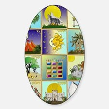 12 Tribes of Israel Sticker (Oval)
