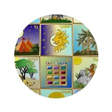 "12 Tribes of Israel 3.5"" Button"
