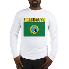 Washington Flag Long Sleeve T-Shirt